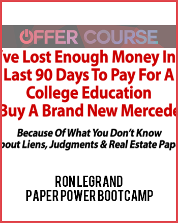 Ron Legrand – Paper Power Bootcamp