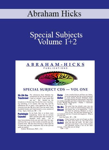 Abraham Hicks - Special Subjects Volume 1+2